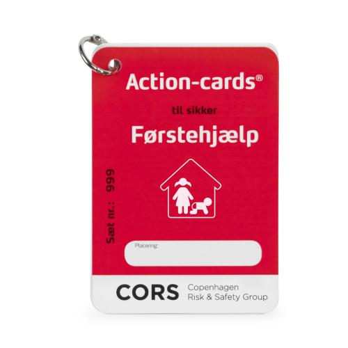Action Cards med Førstehjælp i hjemmet med børn i A7 størrelse